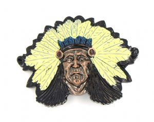 WOLVERINE Native INDIAN Chief Head Belt BUCKLE Replica Good Quality